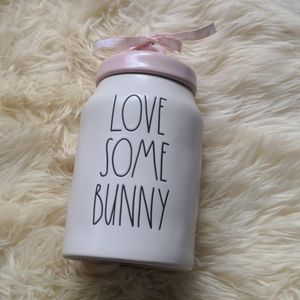 Rae Dunn Easter love some bunny canister